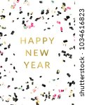 happy new year card with... | Shutterstock . vector #1034616823