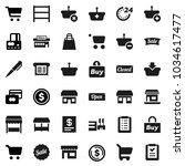 flat vector icon set   pen... | Shutterstock .eps vector #1034617477