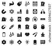 flat vector icon set   kettle...   Shutterstock .eps vector #1034617537