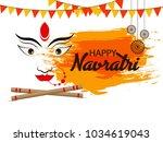 navratri  indian festival  | Shutterstock .eps vector #1034619043