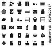 flat vector icon set   bucket... | Shutterstock .eps vector #1034620567