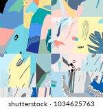 creative universal artistic...   Shutterstock .eps vector #1034625763
