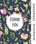watercolor flowers background... | Shutterstock . vector #1034632423