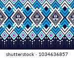 geometric ethnic pattern... | Shutterstock .eps vector #1034636857