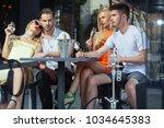twins women and men relax in...   Shutterstock . vector #1034645383