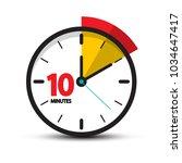 10 minutes clock face. vector... | Shutterstock .eps vector #1034647417