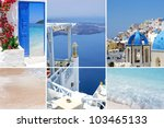 set of summer photos in... | Shutterstock . vector #103465133
