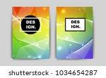 light multicolor vector cover...