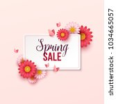 spring sale background with... | Shutterstock .eps vector #1034665057
