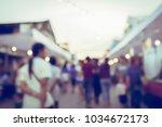 vintage tone blurred defocused... | Shutterstock . vector #1034672173