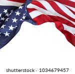 closeup of american flag on... | Shutterstock . vector #1034679457