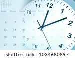 clock face and calendar... | Shutterstock . vector #1034680897