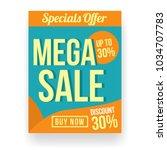 retro sale poster or flyer... | Shutterstock .eps vector #1034707783