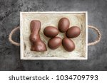 delicious chocolate easter... | Shutterstock . vector #1034709793