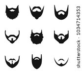 haircut icons set. simple set... | Shutterstock .eps vector #1034714353