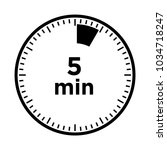 set of timers   five minutes ... | Shutterstock .eps vector #1034718247
