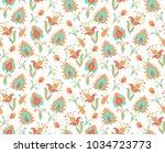 seamless vector floral pattern   Shutterstock .eps vector #1034723773