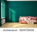 classic scandinavian interior... | Shutterstock . vector #1034725033