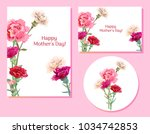 set of templates for mother's... | Shutterstock .eps vector #1034742853