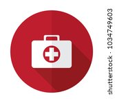 first aid kit flat icon | Shutterstock .eps vector #1034749603