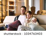 a couple of lovers watch... | Shutterstock . vector #1034763403
