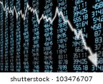 stock market   arrow graph... | Shutterstock . vector #103476707