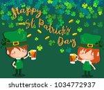 happy saint patrick's day... | Shutterstock .eps vector #1034772937