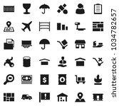 flat vector icon set  ... | Shutterstock .eps vector #1034782657