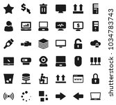 flat vector icon set   trash... | Shutterstock .eps vector #1034783743