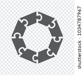 simple icon circle puzzle in... | Shutterstock .eps vector #1034787967