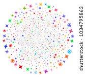 Attractive Confetti Stars Twir...