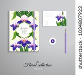 set of notebook  pencil  tag... | Shutterstock .eps vector #1034807923