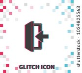entrance  glitch effect vector... | Shutterstock .eps vector #1034825563