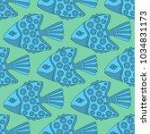 elegant seamless vector pattern ... | Shutterstock .eps vector #1034831173