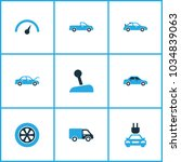 auto icons colored set with... | Shutterstock .eps vector #1034839063