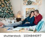 happy husband and wife in... | Shutterstock . vector #1034844097