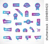 vector stickers  price tag ... | Shutterstock .eps vector #1034854423
