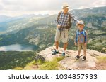 father and son traveling in...   Shutterstock . vector #1034857933