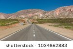 road through colorful mountain...   Shutterstock . vector #1034862883