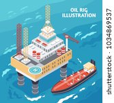 oil gas industry isometric... | Shutterstock .eps vector #1034869537