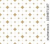 subtle golden vector seamless... | Shutterstock .eps vector #1034871187