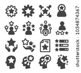 skill ability icon set | Shutterstock .eps vector #1034874367