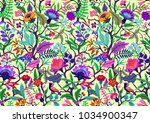 seamless floral pattern with... | Shutterstock .eps vector #1034900347