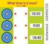 riddle the children clock. what ... | Shutterstock .eps vector #1034902723