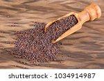 black grains mustard   brassica  | Shutterstock . vector #1034914987