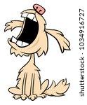 cartoon illustration of shaggy... | Shutterstock .eps vector #1034916727