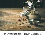 traditional asian tea ceremony... | Shutterstock . vector #1034930833
