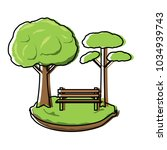 park with trees | Shutterstock .eps vector #1034939743