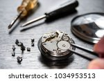 old watch repair composition... | Shutterstock . vector #1034953513