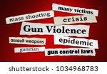 gun violence newspaper... | Shutterstock . vector #1034968783
